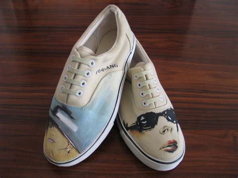china painted shoes china handmade carfts paintings