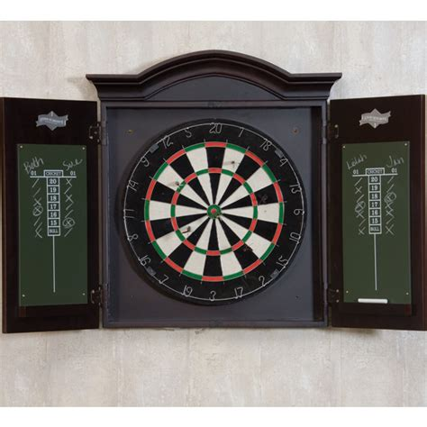 Dart Cabinets by Dart Board With Wood Cabinet By American Heritage
