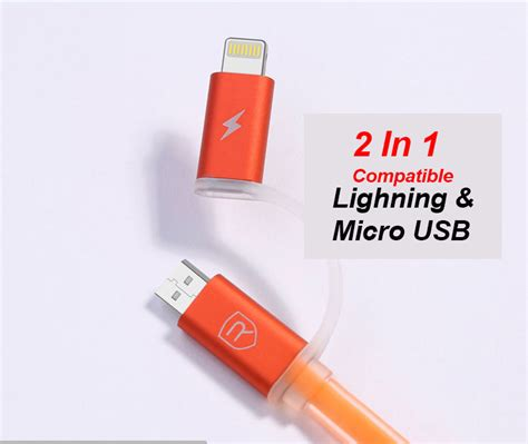 Remax Strive Cable 2 In 1 Micro Lighting Charger remax data line 2 in 1 apple micro usb data cable