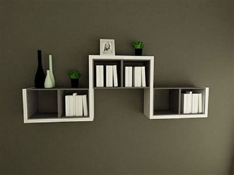 Decorative Wall Mounted Book Shelves Design Built In