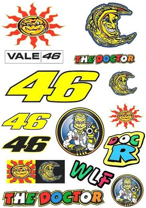 Sticker Vr46 07 decals logos banners r c tech forums