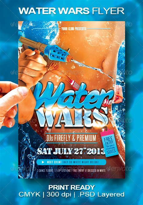 flyer design water water wars flyer flare pools and originals