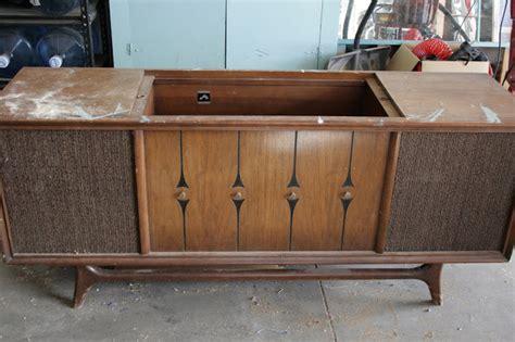 antique recreation repurposed stereo console