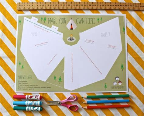 How To Make A Teepee Out Of Paper - the world s catalog of ideas