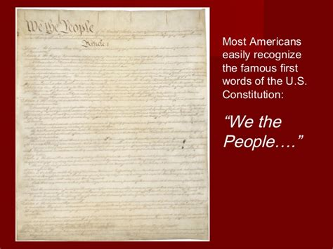the introductory section of the us constitution the u s constitution an introduction