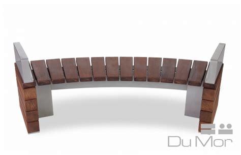 dumor bench curved bench 277 dumor site furnishings