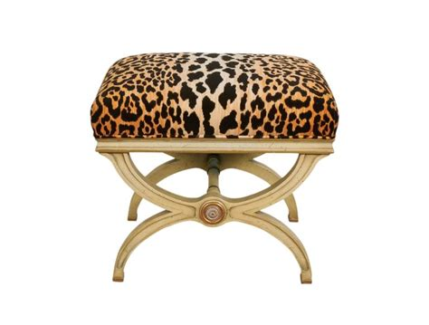 animal print benches pair of hollywood regency leopard print velvet benches for