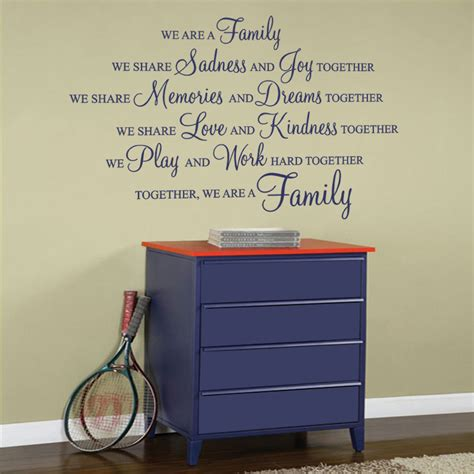 family quote wall stickers family quotes wall decals quotesgram