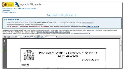 ejemplo formato de la presentacion de la declaracion anual 2015 presentaci 243 n electr 243 nica del modelo 303 ejercicio 2014