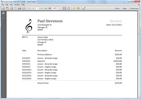 musician invoice template invoicing software 187 my staff