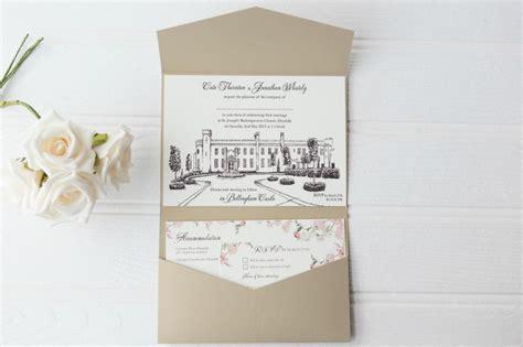 Unique Castle Wedding Invitations by Bellingham Castle Venue Invitations Wedding Stationery