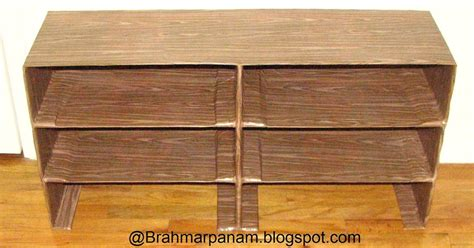 Build Your Own Shoe Rack by Brahmarpanam Make Your Own Cardboard Shoe Rack