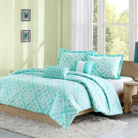 Teal Bedding by Beautiful Modern Chic Blue Aqua Teal Chevron Stripe