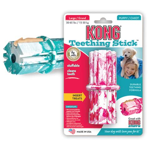 kong puppy teething stick kong teething stick pink blue large