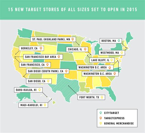 from the east coast to hawaii 15 new target stores of all