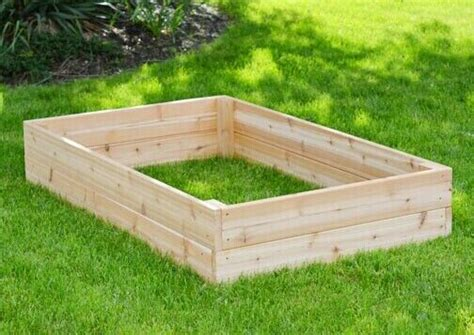 raised vegetable garden boxes plants fertilizer soil