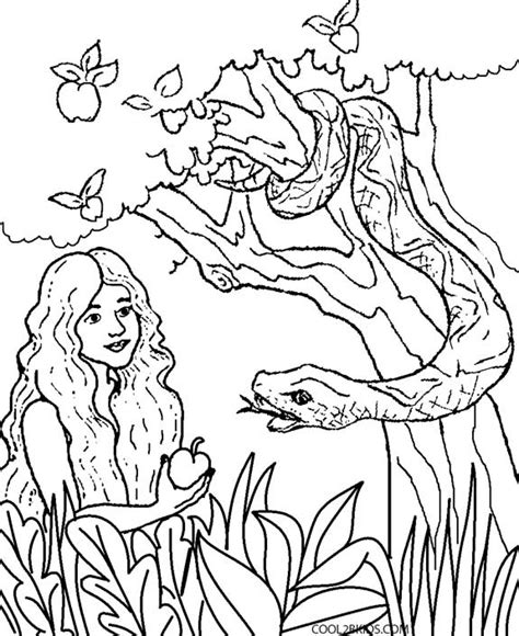 Printable Adam And Eve Coloring Pages For Kids Adam And Coloring Page