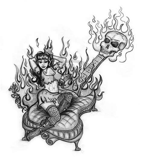 imagenes de guitarras rockeras para colorear tatuajes de rock and roll fotos de tatuajes