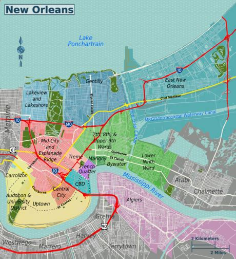 Sections Of New Orleans by New Orleans Wikitravel