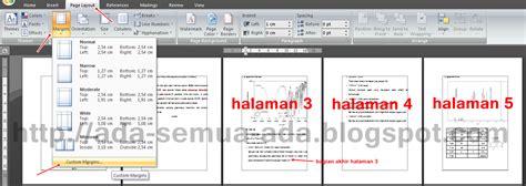 cara membuat halaman word portrait dan landscape membuat halaman landscape dan portrait dalam satu document