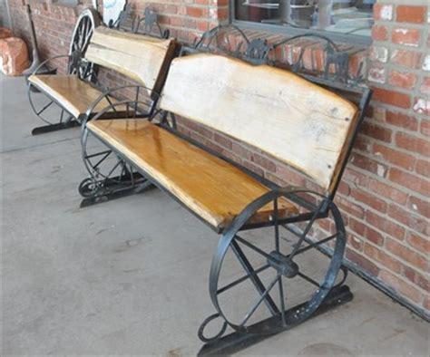 wagon wheel bench wagon wheel bench 2 artistic seating on waymarking com