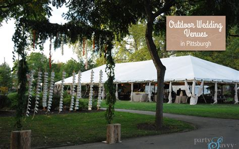 backyard wedding locations outdoor wedding venues in pittsburgh partysavvy event