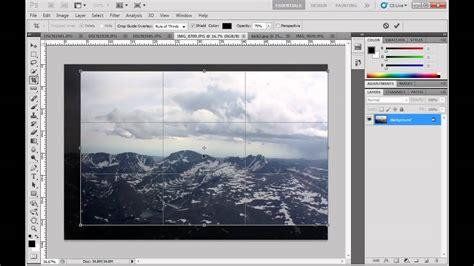 tutorial crop photoshop cs5 rotate crop straighten and transform an image using