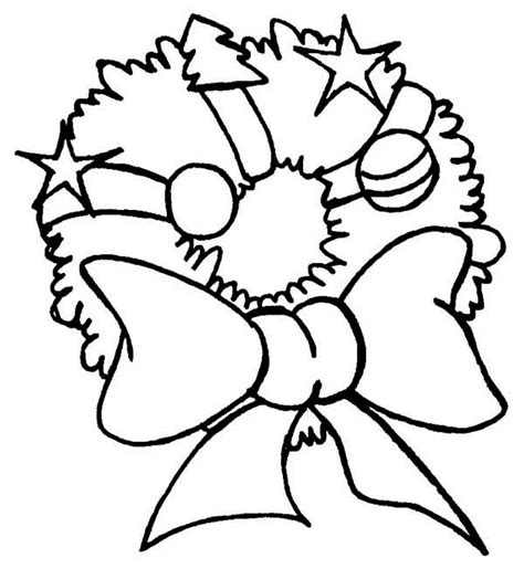 coloring pages of christmas reefs lovely christmas wreath with huge ribbon on christmas