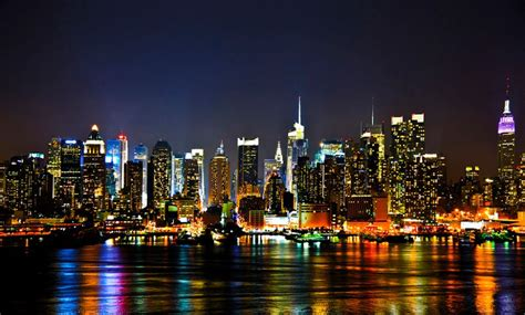 manhattan night in new york city 4k wallpapers sticker mural personnalis 233 new york city toile affiche new