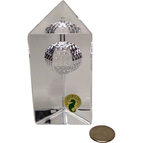 waterford times square new years paperweight from