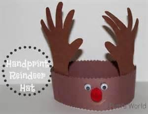 handprint reindeer hat putti s world kids activities
