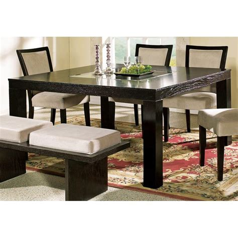 Dining Table With Glass Insert Movado Contemporary Dining Table With Glass Insert Dcg Stores