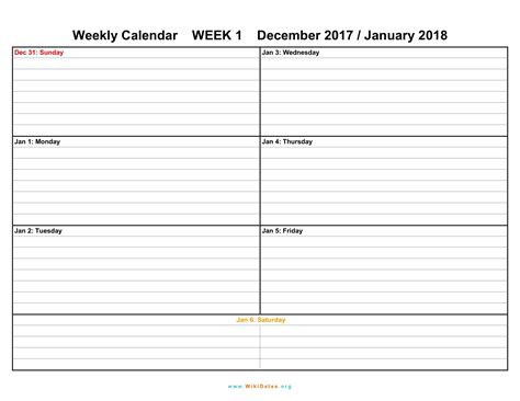 weekly printable calendars 2018 weekly calendar weekly calendar 2017 and 2018