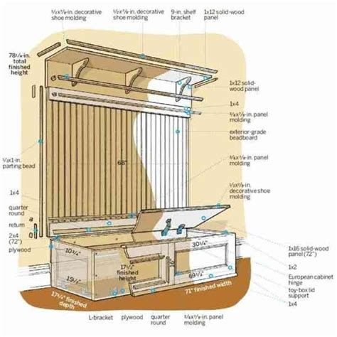 Entryway Storage Bench Plans build corner storage bench seat woodworking projects