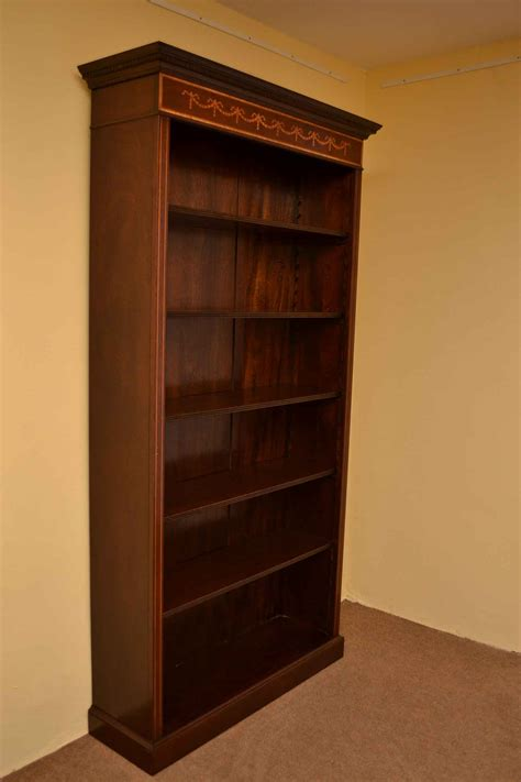 bookcase with adjustable shelves regent antiques bookcases sheraton open bookcase with