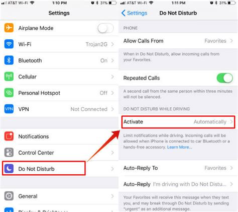 iphone do not disturb how to enable iphone do not disturb to auto reply text while driving mashtips