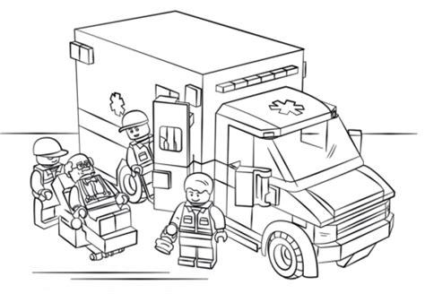 ambulance coloring pages coloriage ambulance lego coloriages 224 imprimer gratuits