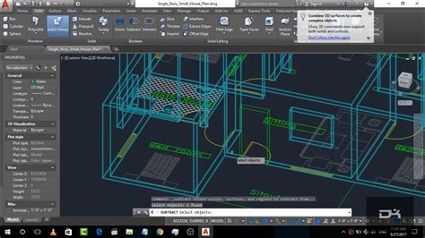 tutorial autocad step by step autocad complete 3d house plan step by step autocad