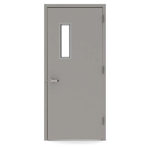 Commercial Exterior Steel Doors And Frames L I F Industries 36 In X 80 In Vision Lite 520 Left Steel Prehung Commercial Door With