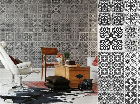 Tapisserie Murale Orientale by Imitation Carrelage Pour Un Salon Qui Voyage Binyen