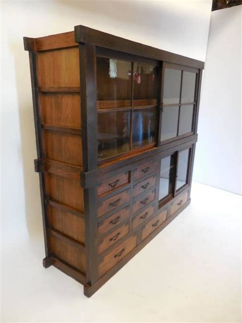 Antique Glass Door Cabinet   Antique Furniture