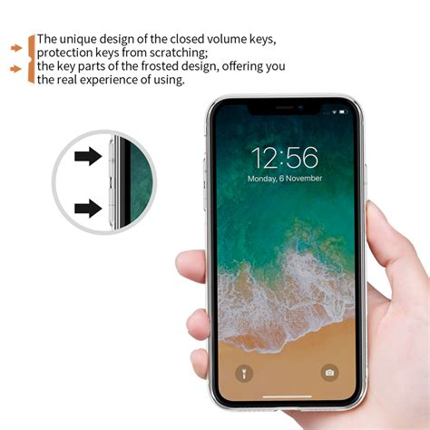 nillkin transparent soft phone for iphone xr brown