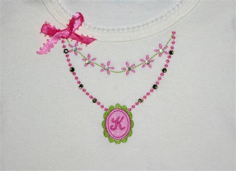 embroidery design necklace necklace machine embroidery applique design add your own