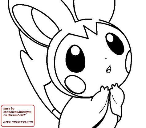 pokemon coloring pages emolga best pokemon coloring pages emolga deviantart more like