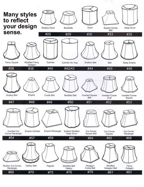 lshade styles l shade style chart design resources pinterest