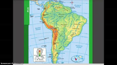 interactive map of south america physical features physical and political geography of south america
