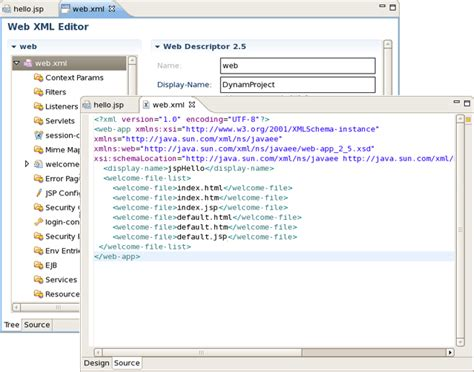xml layout tool getting started with jboss developer studio