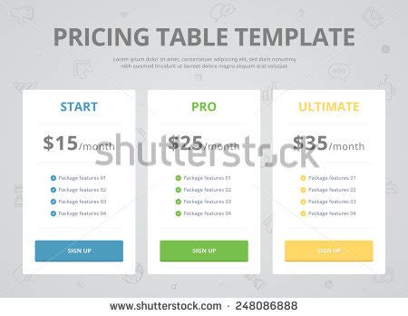 Pricing Plan Template Stock Photos Pricing Plan Template Stock | royalty free pricing plans for websites and 266611046