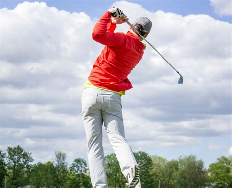 golf swing follow through how to hit a golf and slim golf