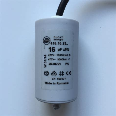 capacitors uk motor run capacitors 16uf lead 240v 475v pf